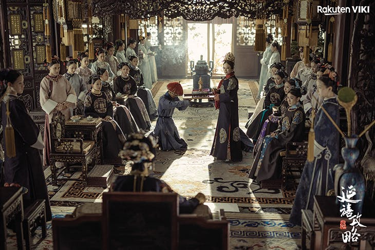 A palace interior in the Forbidden City, as reimagined in Story of Yanxi Palace.