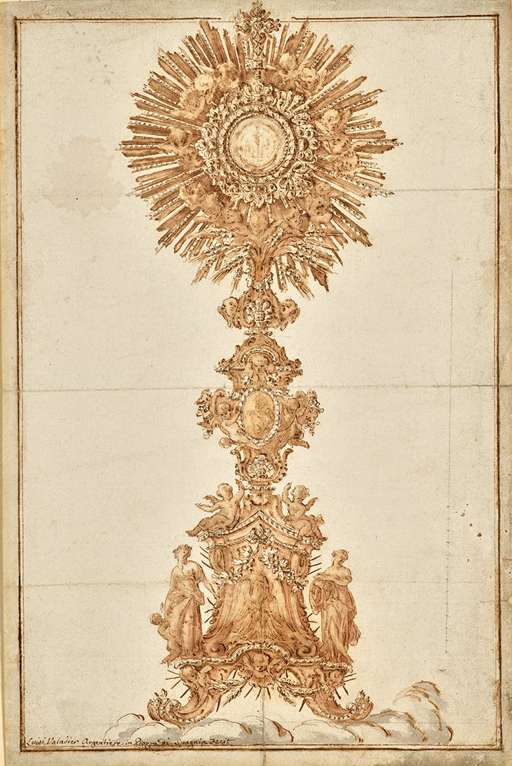 Design for a Monstrance (after 1762) Luigi Valadier. Private collection