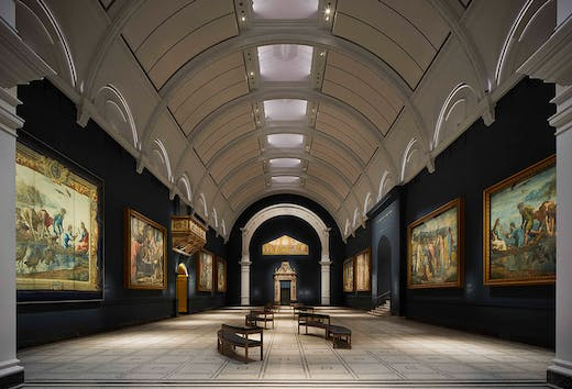Holding court: the refurbished Raphael Court at the V&A in 2021.