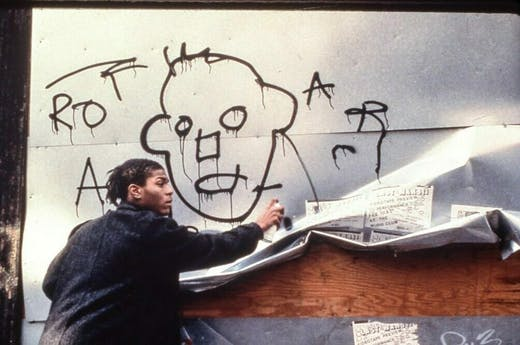 Jean-Michel Basquiat in the film 'Downtown 81' (1980–81/2000).