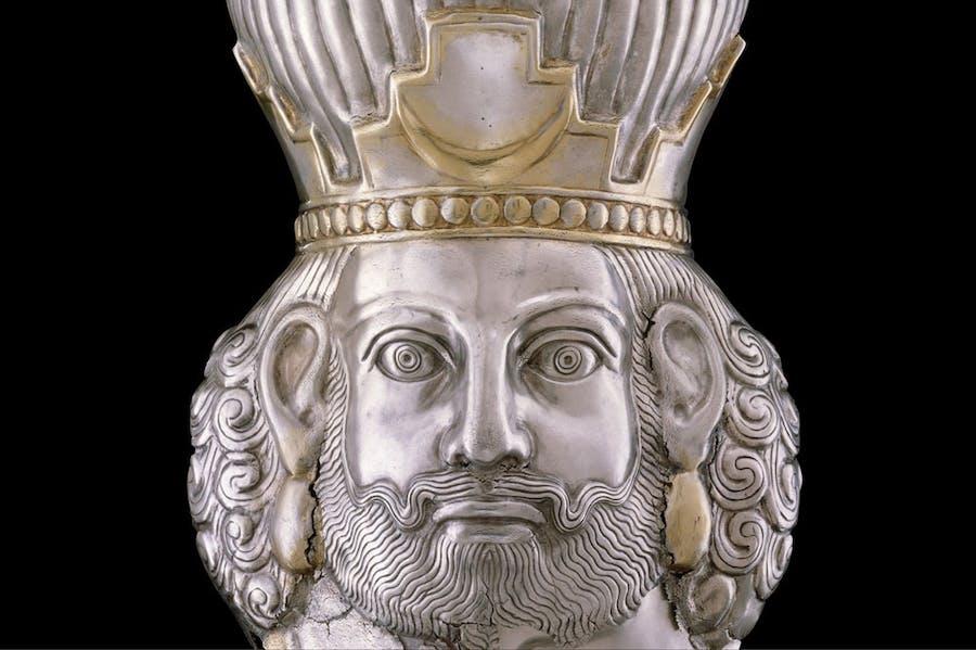 Head of a king (c. 4th century), Sasanian. Metropolitan Museum of Art, New York