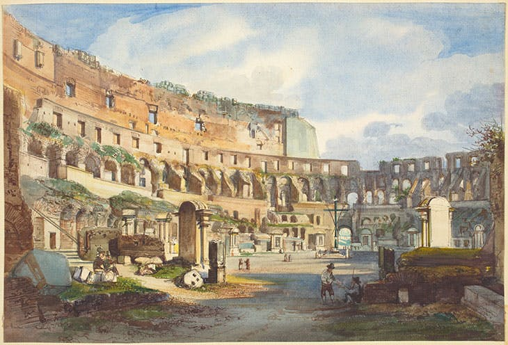 Interior of the Colosseum (mid 1800s), Ippolito Caffi. National Gallery of Art, Washington, D.C.