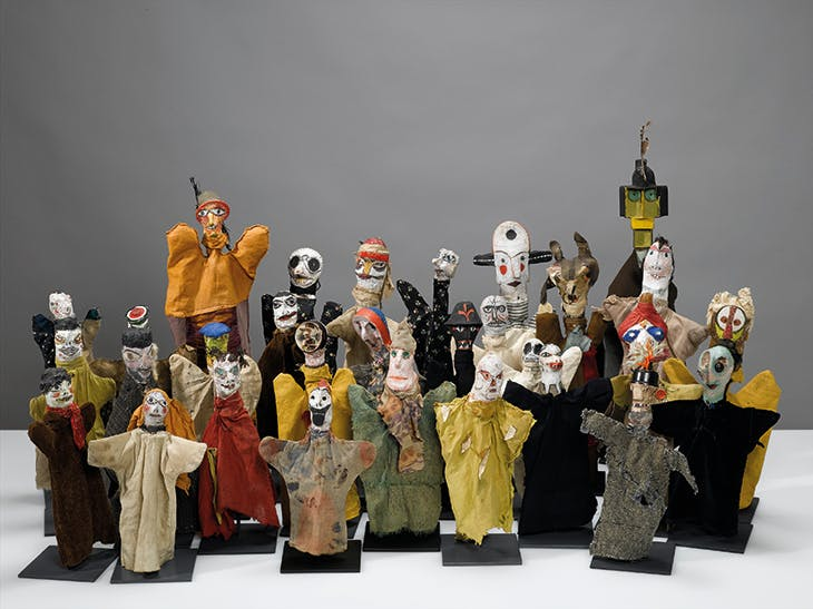Hand puppets created by Paul Klee for his son Felix from 1916–25. Zentrum Paul Klee, Donation Livia Klee