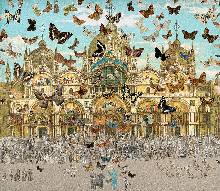 The Butterfly Man – Venice (in homage to Damien Hirst) (2010), Peter Blake.
