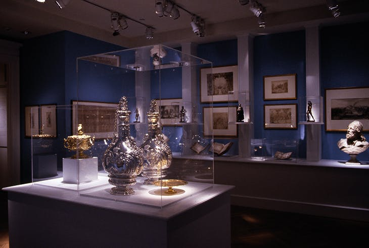 Installation view of 'The Devonshire Inheritance: Five Centuries of Art Collecting at Chatsworth' at the Bard Graduate Center, New York, in 2004.