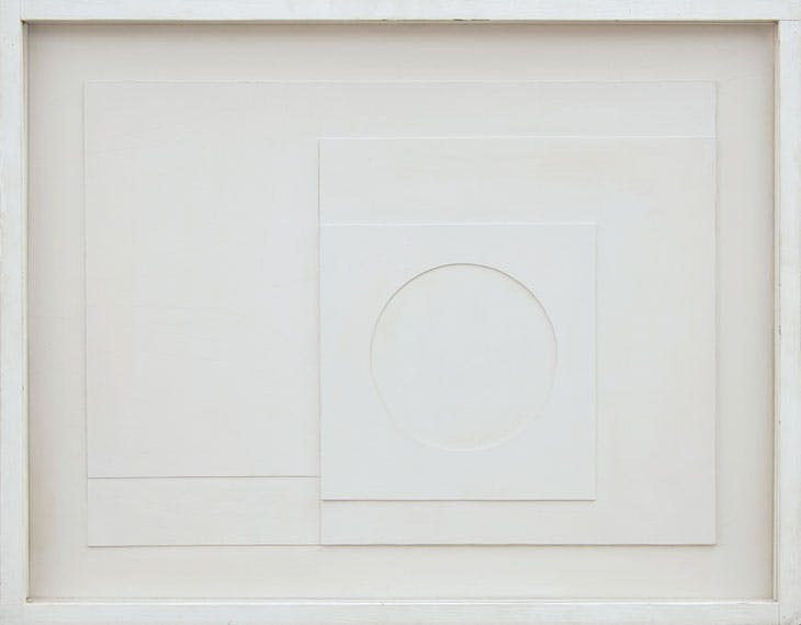 1936 (white relief) (1936), Ben Nicholson. Private collection (on loan to Pallant House Gallery).