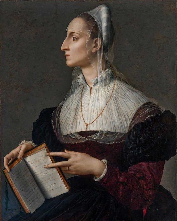 Laura Battiferri (c. 1560), Bronzino.