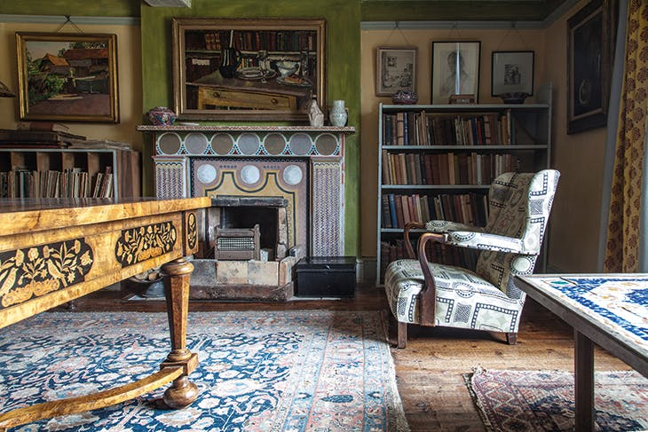 Clive Bell's study at Charleston in Firle, East Sussex.