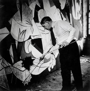 Picasso working on Guernica in his Grands-Augustins studio, Paris (1937), Dora Maar. Museo Nacional Centro de Arte Reina Sofía, Madrid.