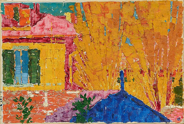 Red roofs (1911), Augusto Giacometti.