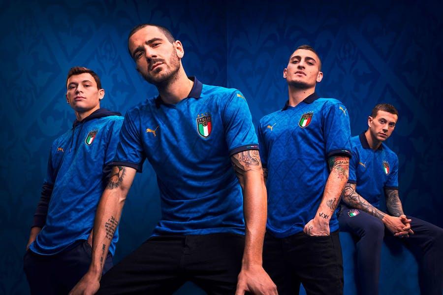 Renaissance lads: Puma's FIGC home kit