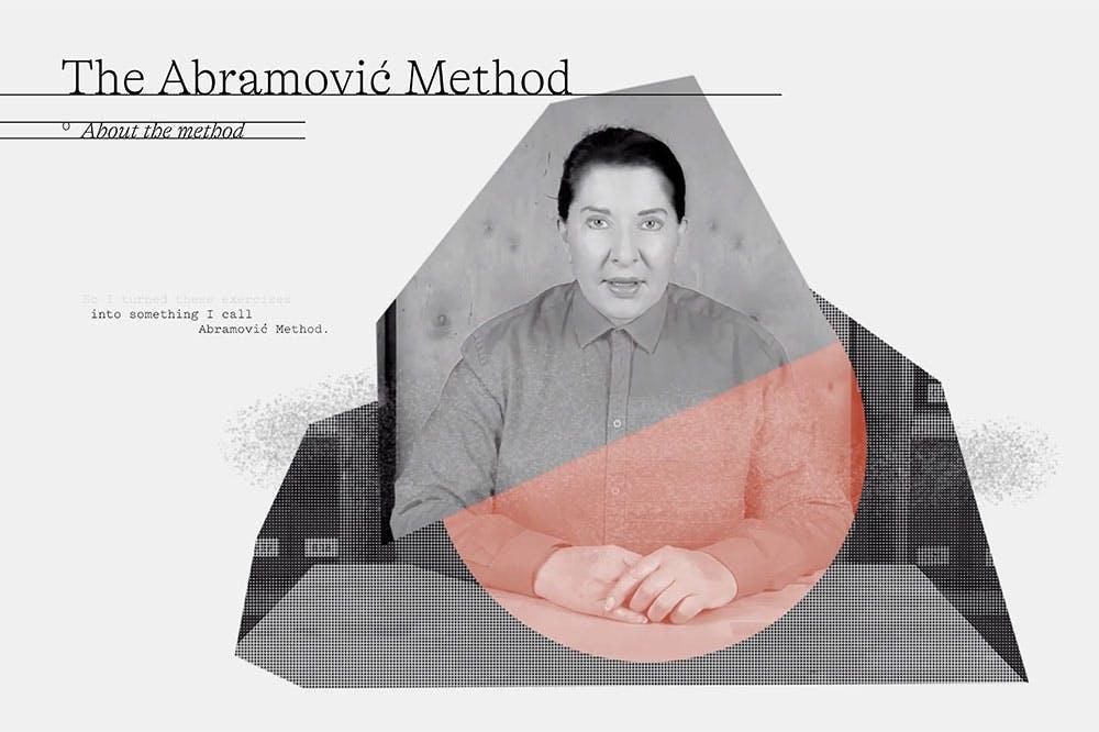 Star gazing: still from the Abramovic Method by Marina Abramovic, designed by WeTransfer