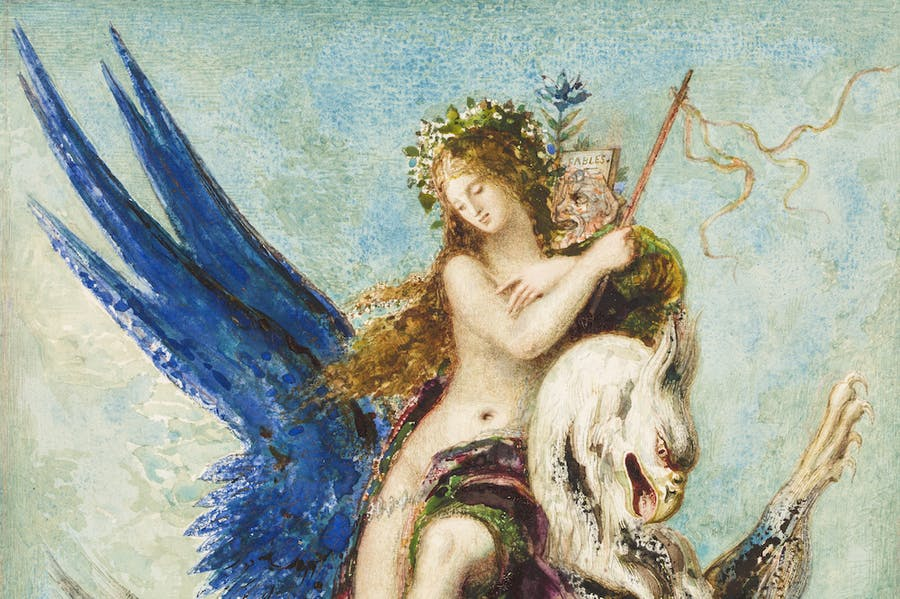 Allegory of Fable (1879; detail), Gustave Moreau. Private Collection.