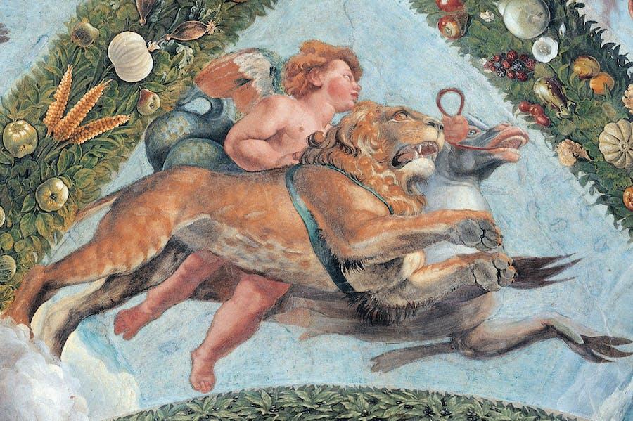 A fresco by Giovanni da Udine at the Villa Farnesina, Rome
