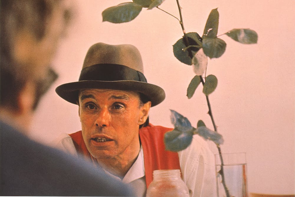 We can't do it without the rose (detail; 1972), Joseph Beuys.