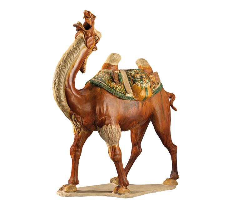 T'ang bactrian camel (c. 760), Chinese. Nelson-Atkins Museum of Art, Kansas City