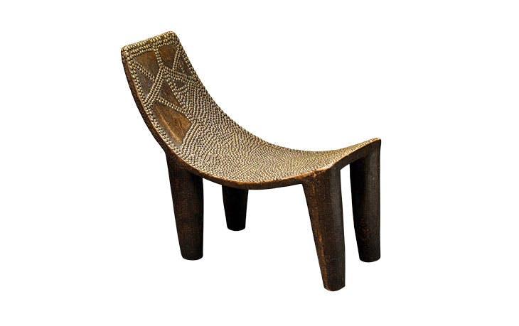 Royal chair (19th century), Ngombe people, Democratic Republic of Congo.