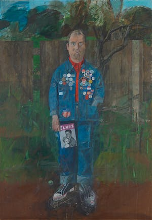 Self-Portrait with Badges (1961), Peter Blake. Tate Collection (on view in 'Walk Through British Art: 1960' at Tate Britain, London)