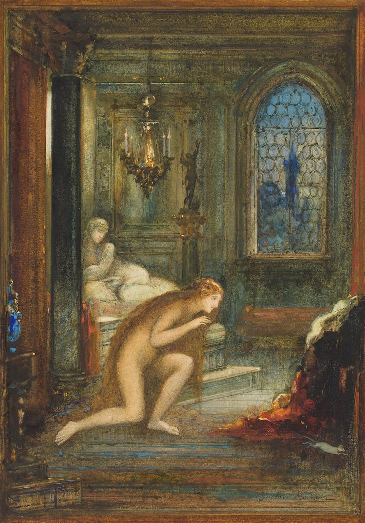 The cat transformed into a woman (1884), Gustave Moreau. Private Collection.