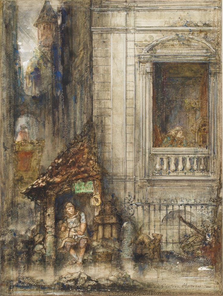 The cobbler and the financier (1882), Gustave Moreau. Private Collection