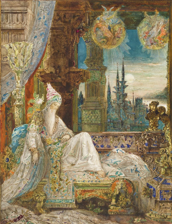 The dream of an inhabitant of Mongolia (1881), Gustave Moreau. Private Collection.