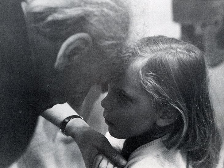 Photograph of 'A Joseph Cornell Exhibition for Children' at the Cooper Union, New York in 1972.