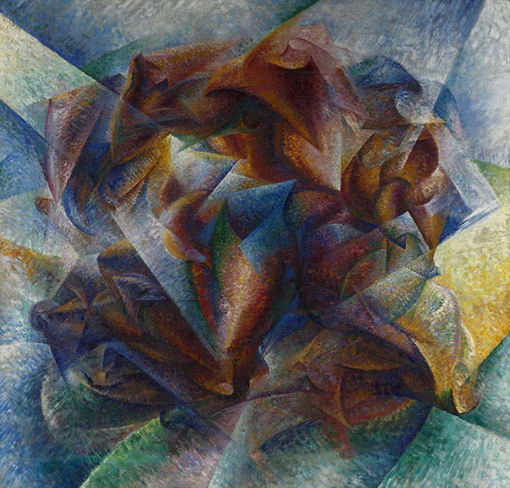 Dynamism of a Soccer Player (1913), Umberto Boccioni. Museum of Modern Art, New York