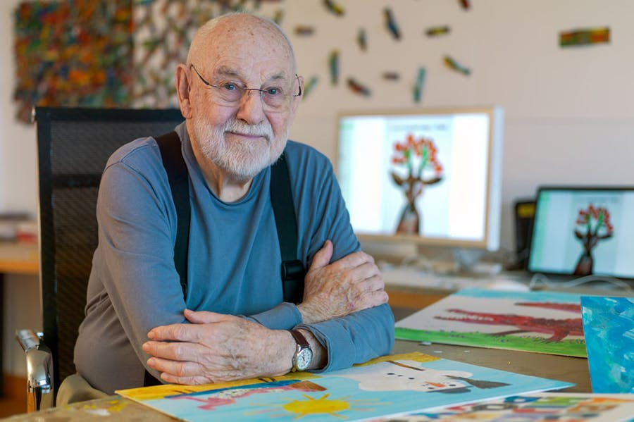 Eric Carle, creator of The Very Hungry Caterpillar