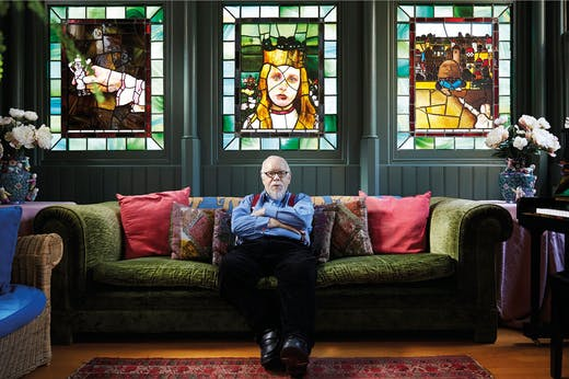 Peter Blake photographed at home in 2015.