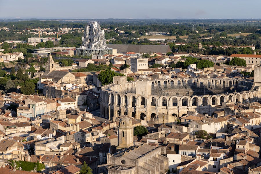 Luma Arles; in the foreground is the town's Roman amphitheatre. Photo: Iwan Baan