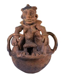 Shrine vessel for the Edo deity Olokun, collected by Northcote Thomas in Benin City in 1909. Museum of Archaeology and Anthropology, Cambridge.