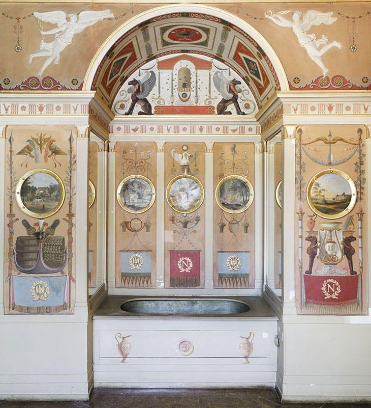 The Emperor's bathroom at the Château de Rambouillet.