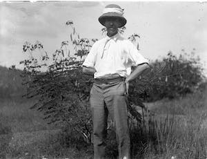 Northcote Thomas, Government Anthropologist, photographed probably by his assistant Corporal Nimahan, in southern Nigeria, 1909–10.
