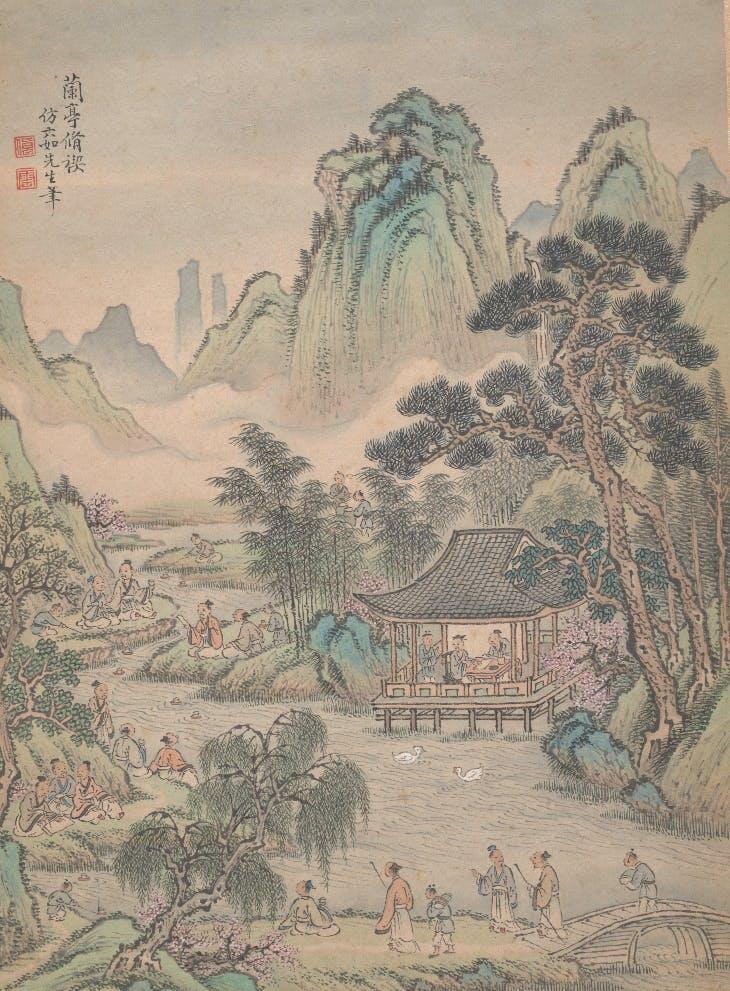 Eight landscapes (1699), Lu Han. The Metropolitan Museum of Art.