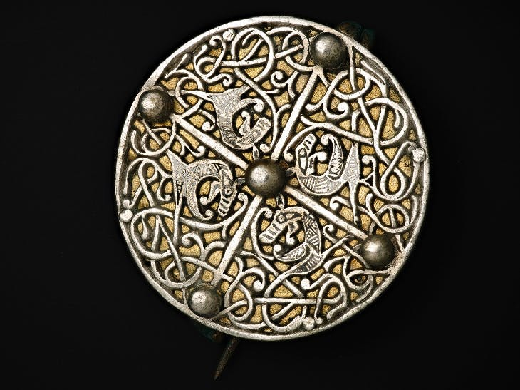 An Anglo-Saxon disc brooch. National Museums Scotland.