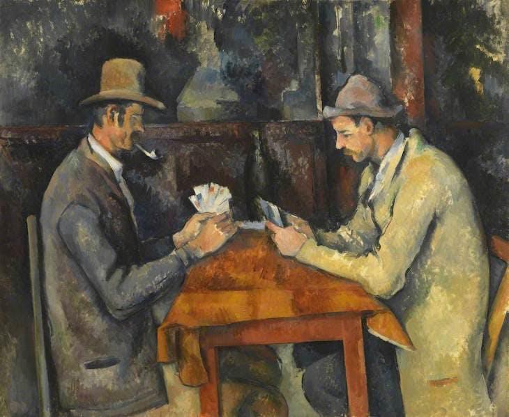 The Card Players (1892–96), Paul Cézanne.