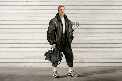 Sales force? Justin Bieber for Balenciaga's Fall 2021 ready-to-wear collection.