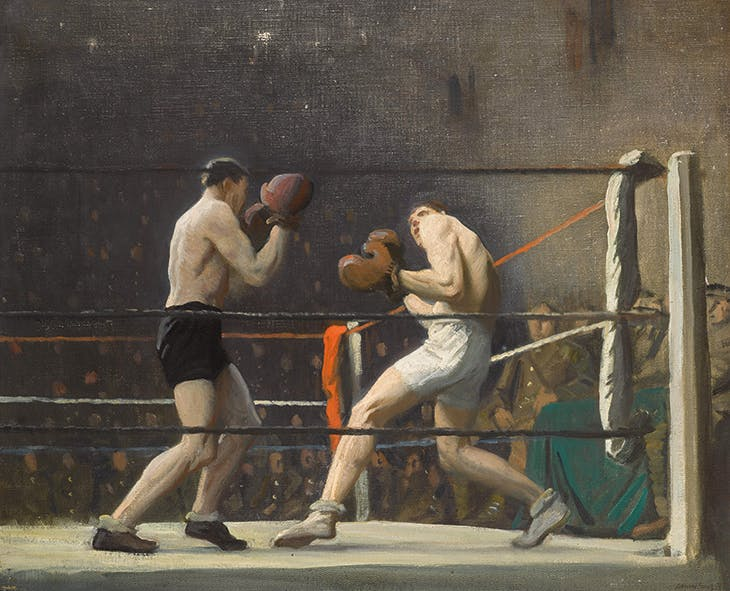 Boxing in Camp (The Light Heavy-Weights) (1918), Laura Knight