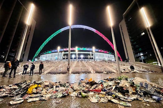 Post-match analysis: Wembley Stadium after the UEFA Euro 2020 Championship Final in July 2021.