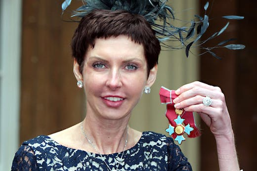 Denise Coates accepting her CBE at Buckingham Palace in 2012.