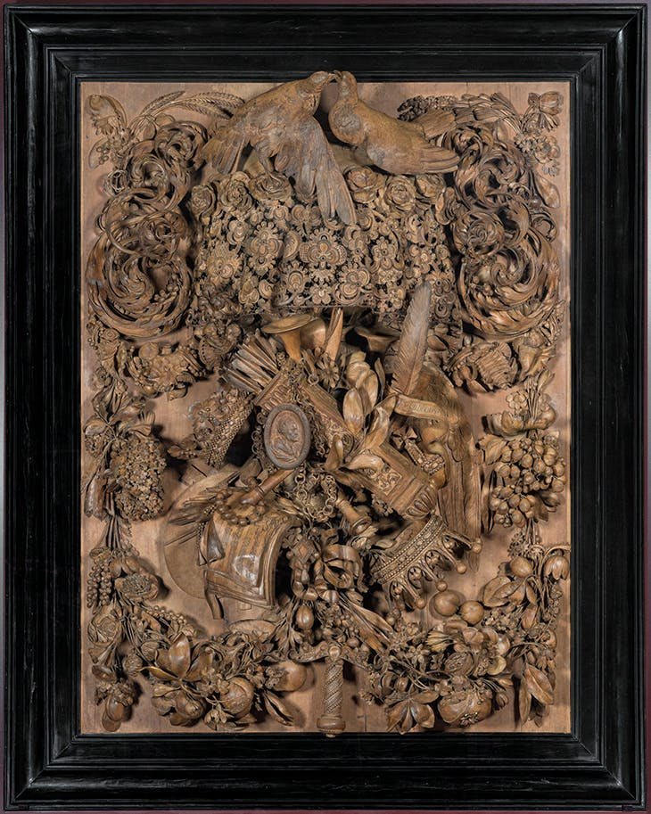 The Cosimo panel (1682), Grinling Gibbons.