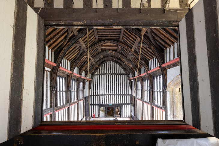 The Great Hall at Gainsborough Old Hall.