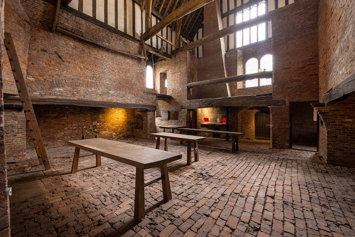 The medieval kitchen at Gainsborough Old Hall.