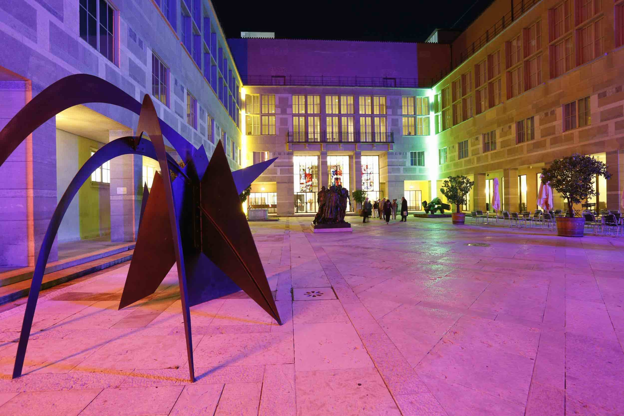 The courtyard at the Kunstmuseum Basel.