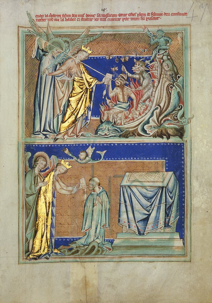 Page from the Lambeth Apocalypse, depicting scenes