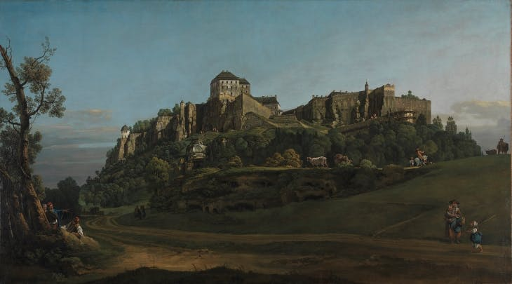 The Fortress of Königstein from the North (1756–58), Bernardo Bellotto.