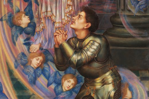 Our Lady of Peace (detail; 1907), Evelyn De Morgan.