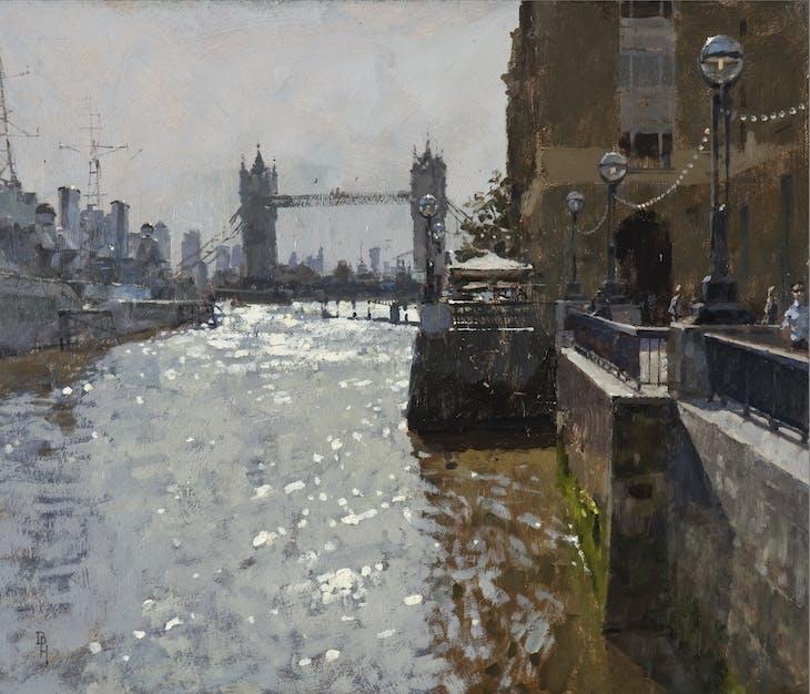 Ben Hope's Tower Bridge from London Pier (2016) – begun en plein air and completed in the studio.