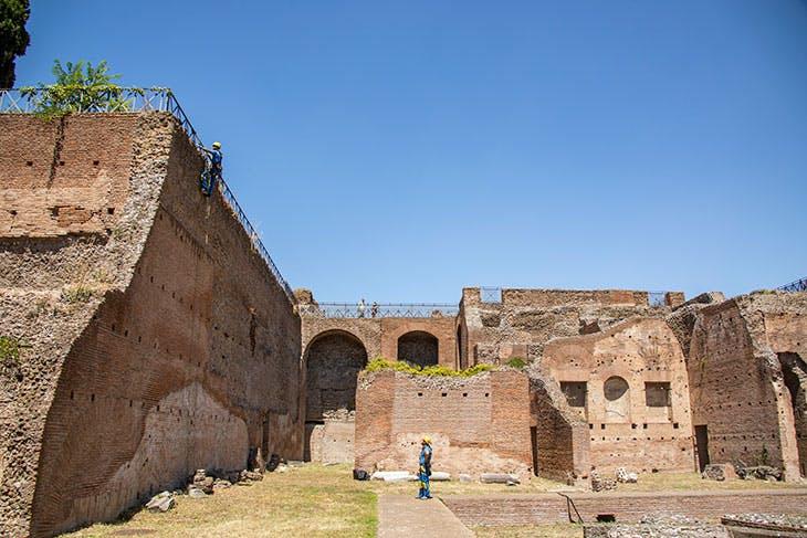 At the Roman Forum. Courtesy EdiliziAcrobatica
