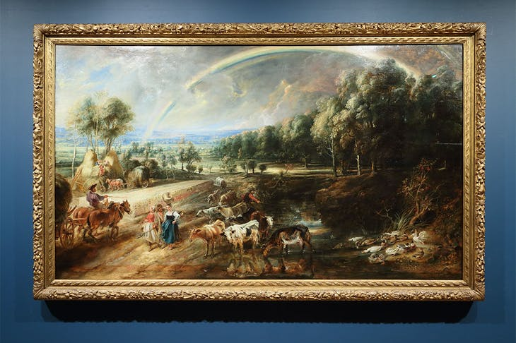 The Rainbow Landscape (c. 1636), Peter Paul Rubens. Installation view at the Wallace Collection, London.